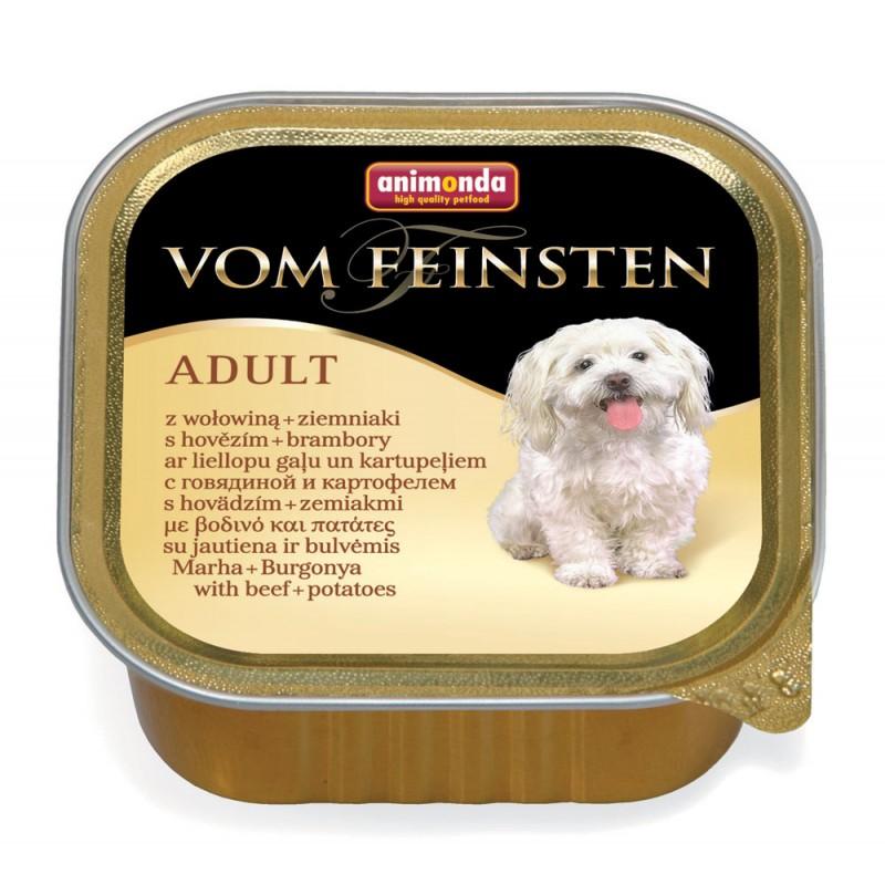 Влажный корм для собак Animonda Vom Feinsten Adult beef and potato 0,15 кг