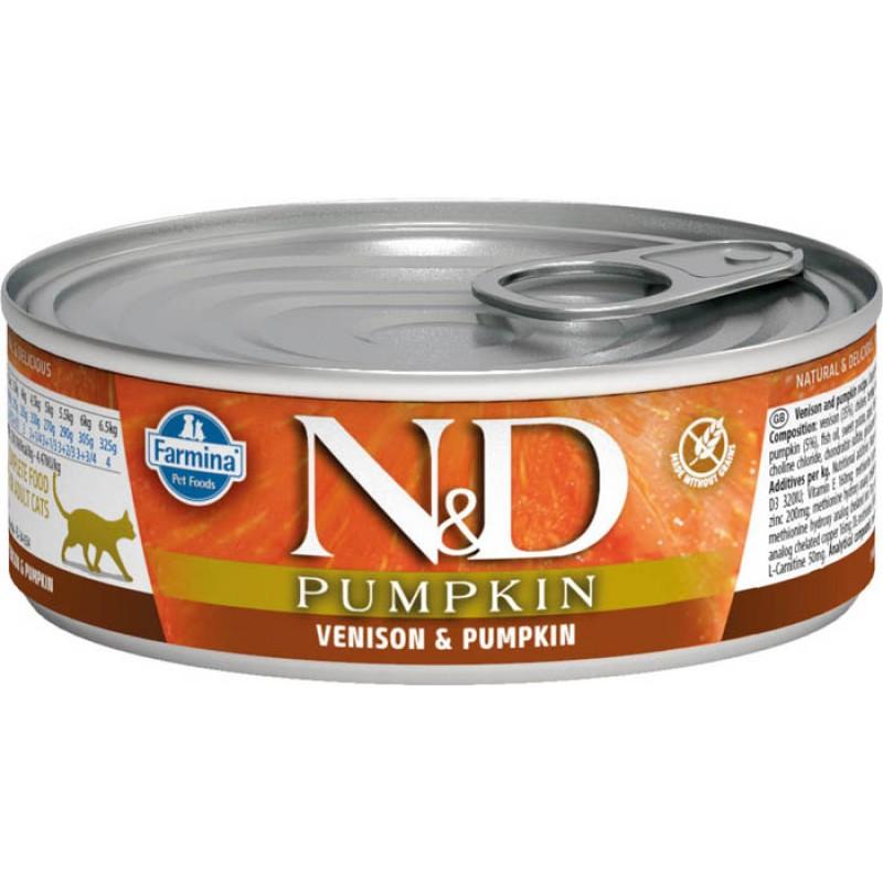 Влажный корм для кошек Farmina N & D Venison & Pumpkin с олениной и тыквой 0,08 кг