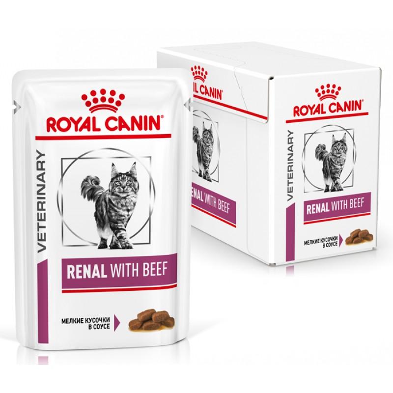 Влажный корм Royal Canin Renal with Beef пауч диета для кошек 0,085 кг