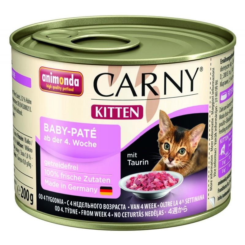 Влажный корм для котят Animonda Carny Kitten Baby-Pate 0,2 кг