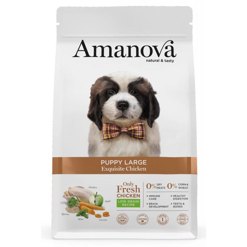 Сухой корм для щенков Amanova Puppy Large с изысканной курочкой для крупных пород 12 кг