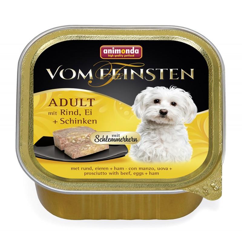 Влажный корм для собак Animonda Vom Feinsten Adult с говядиной яйцом и ветчиной 0,15 кг