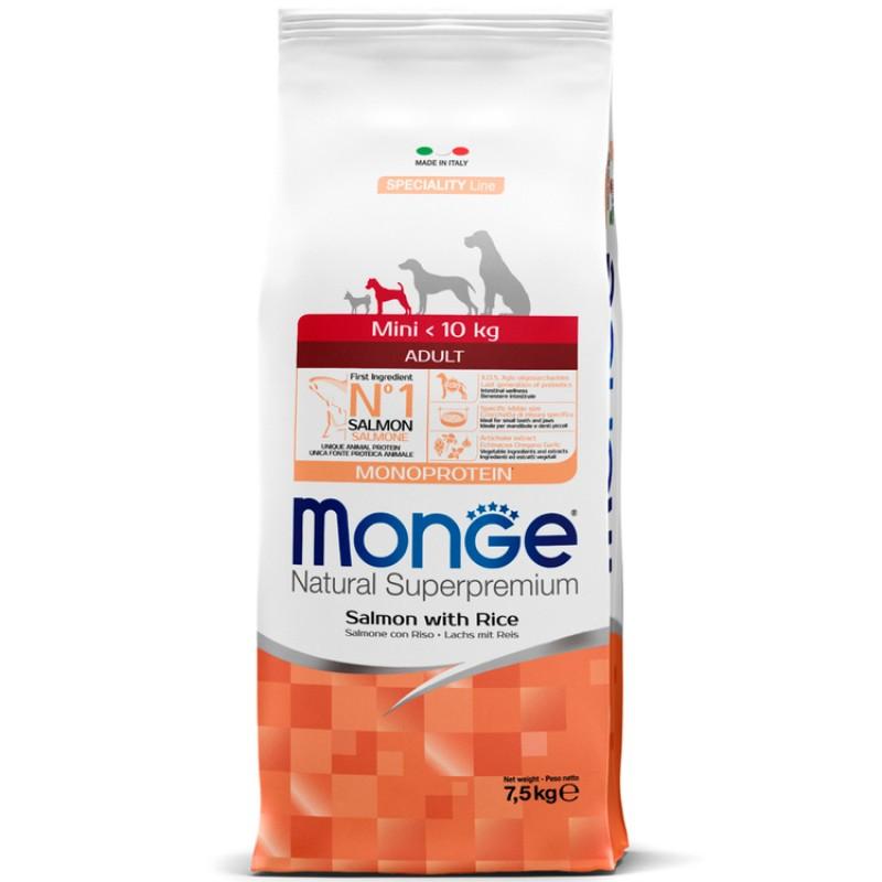 Сухой корм для собак Monge Speciality Mini Adult лосось с рисом 7,5 кг