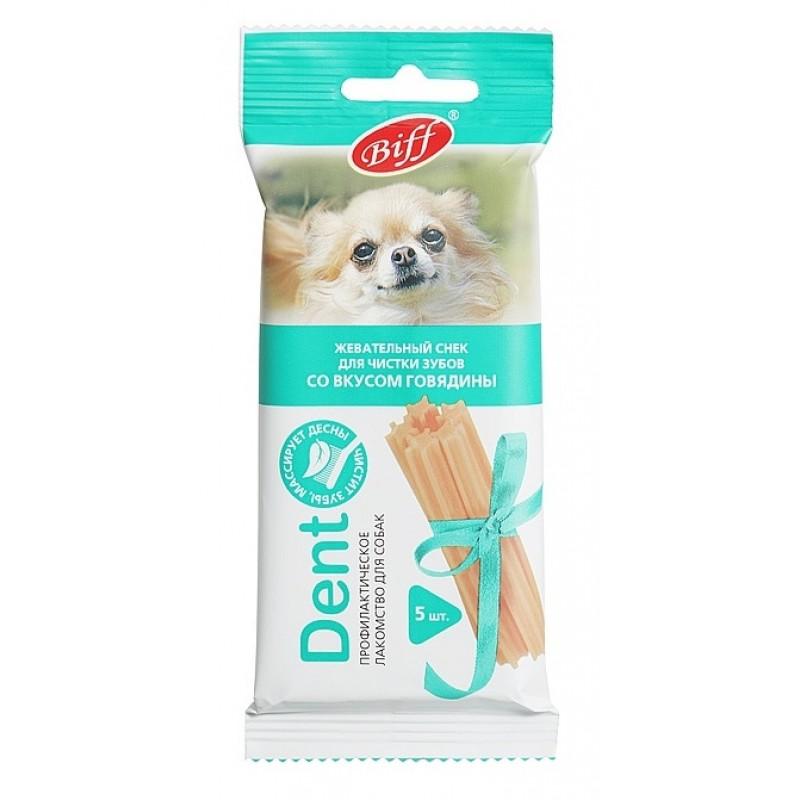 Лакомство для собак Titbit Dent Снек жевательный для мелких пород со вкусом говядины 5 шт 0,035 кг