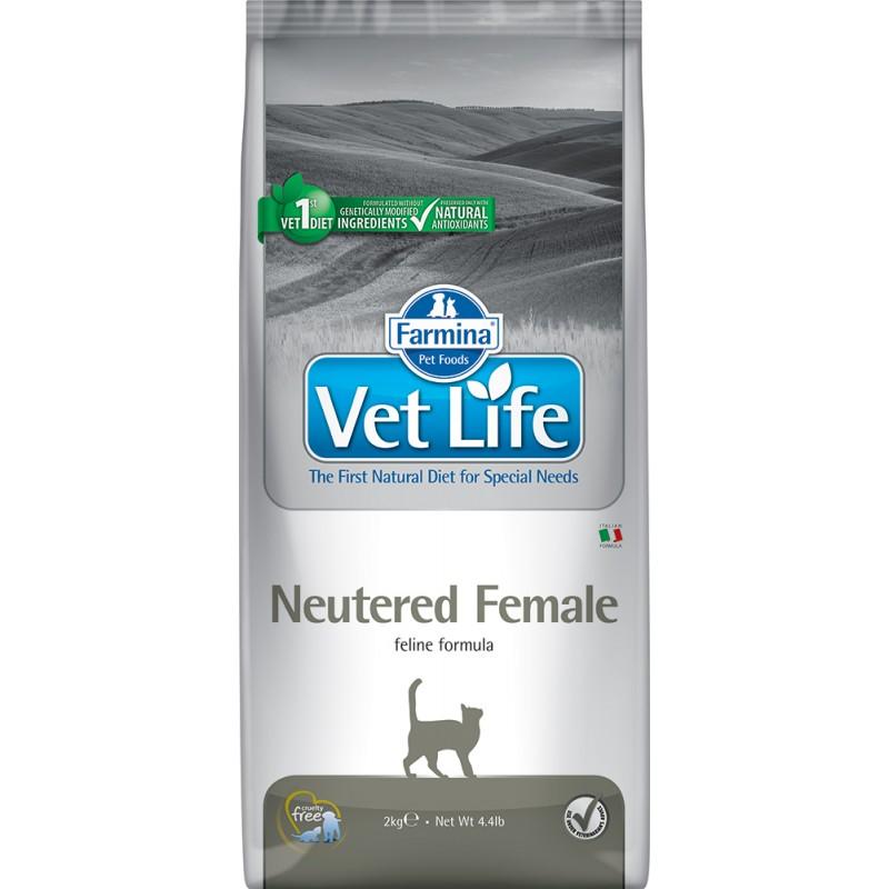 Сухой корм Farmina VET LIFE Feline Neutered Female диета для кошек 10 кг