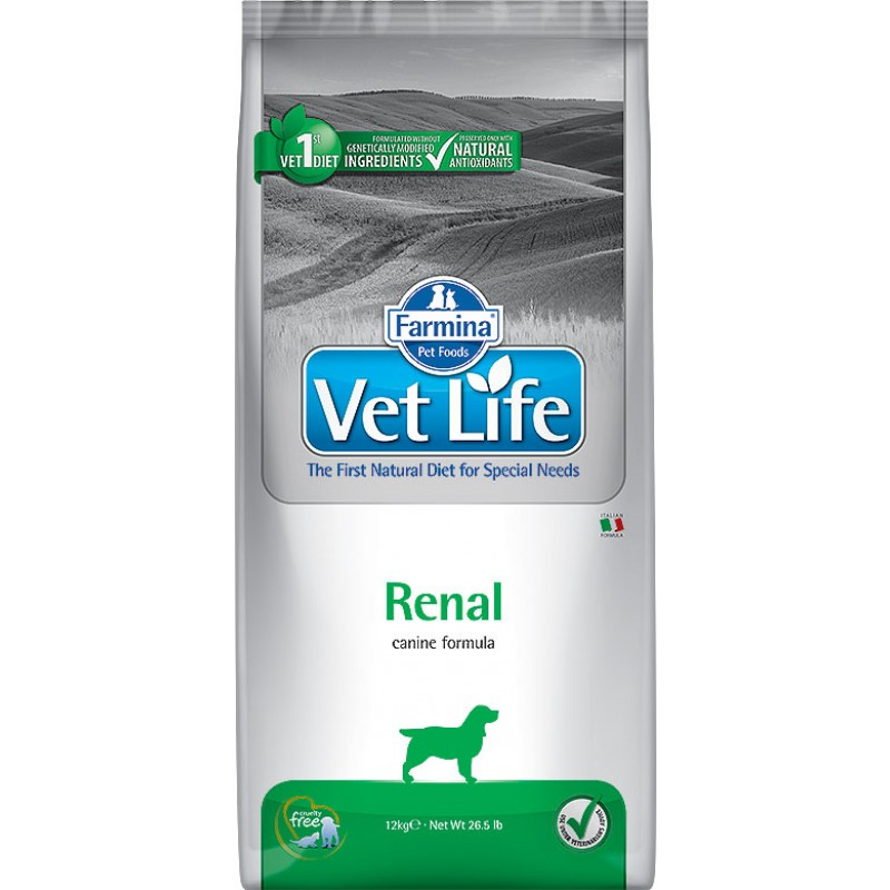 Сухой корм Farmina VET LIFE Canine Renal диета для собак 2 кг
