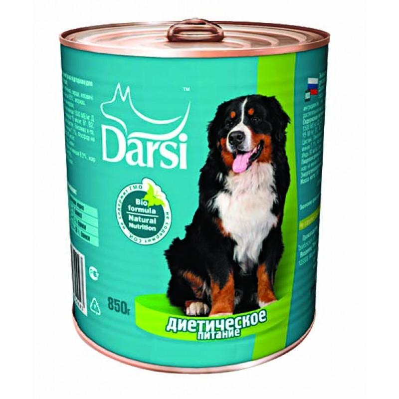Влажный корм для собак Darsi Говядина и рис 0,85 кг