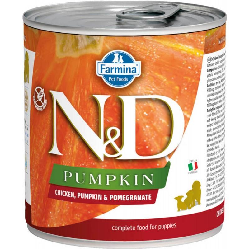 Влажный корм для щенков Farmina N & D Chicken, Pumpkin & Pomegr Puppy с курицей, гранатом и тыквой 0,285 кг