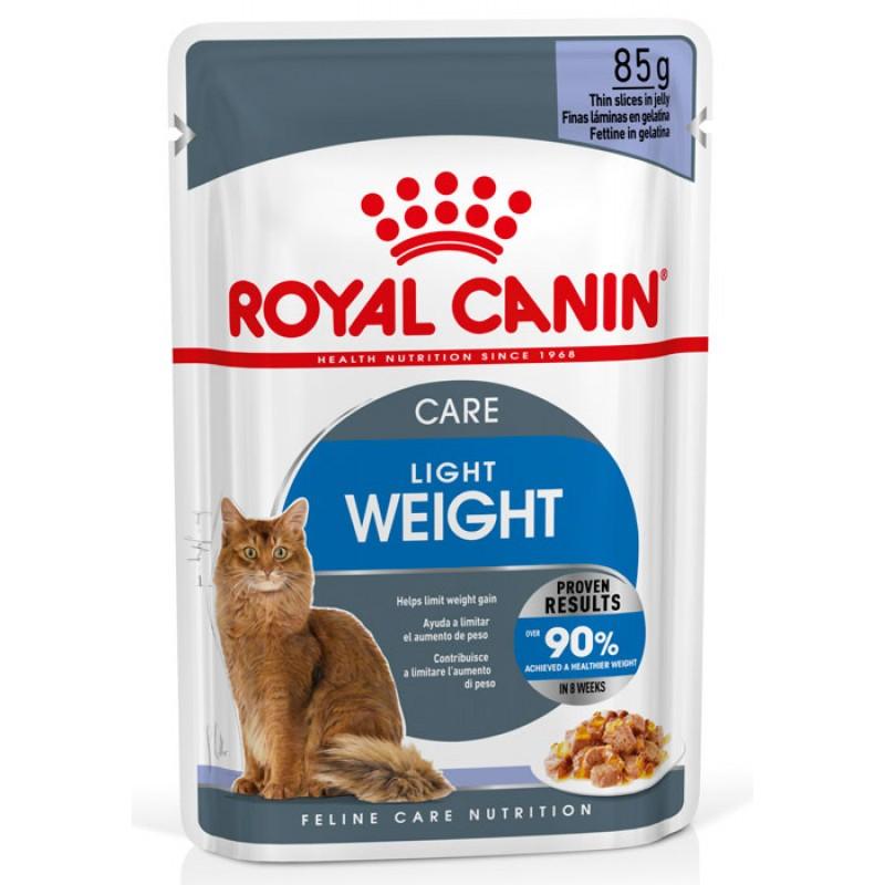 Влажный корм для кошек Royal Canin Light Weight Care в желе пау 0,085 кг