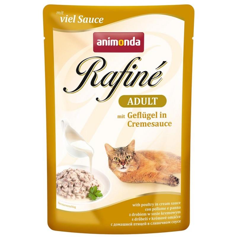 Влажный корм для кошек Animonda Rafine Soupe Adult пауч коктейль из домашней птицей в сливочном соусе 0,1 кг