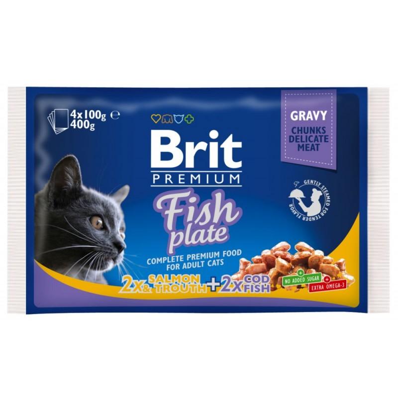 Влажный корм для кошек Brit Fish Plate 0,4 кг