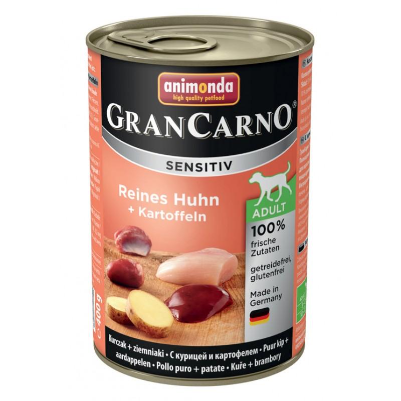 Влажный корм для собак Animonda GranCarno Sensitiv для чувствительных курица c картофелем 0,4 кг