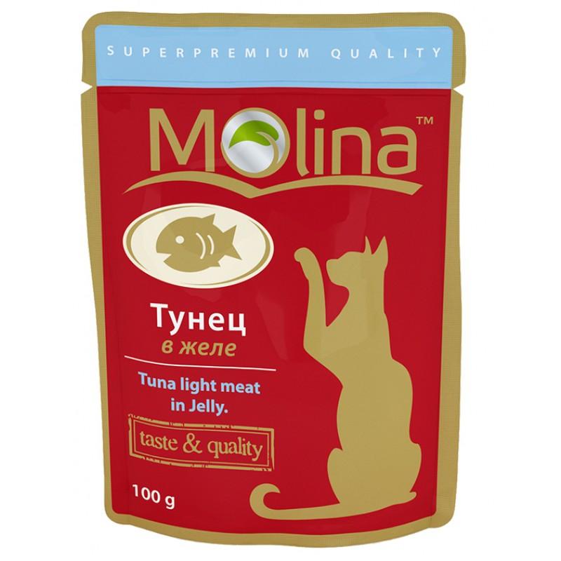 Влажный корм для кошек Molina Тунец в Желе 0,1 кг