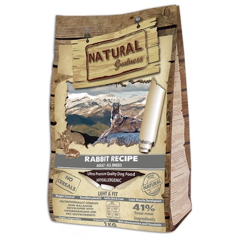 Сухой корм для собак Natural Greatness Rabbit Recipe Light&Fit 2 кг