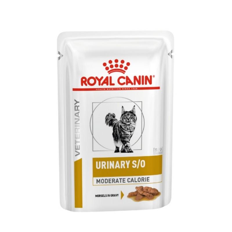 Влажный корм для кошек Royal Canin Urinary S/O Moderate Calorie кусочки в соусе 0,085 кг