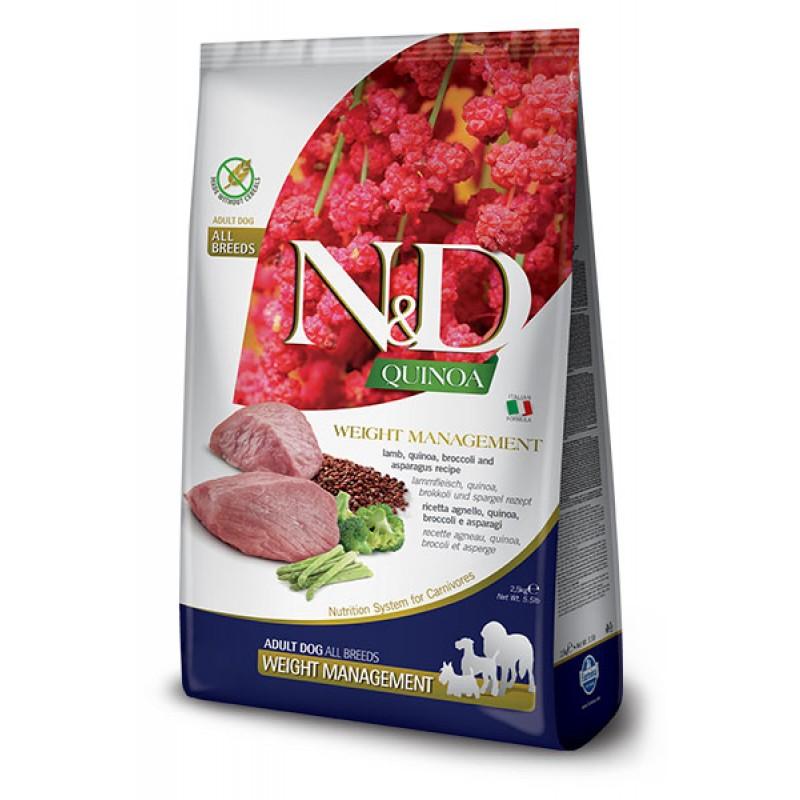 Сухой корм для собак Farmina N&D Quinoa Weight Management беззерновой с ягненком и киноа 2,5 кг