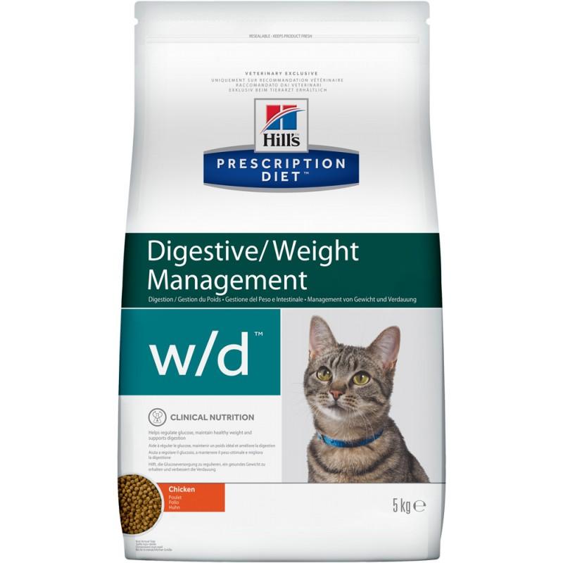 Сухой корм Hills Prescription Diet w/d Feline Low Fat Diabetes Colitis диета для кошек 5 кг