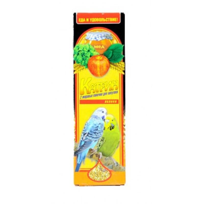 Лакомство для птиц Катрин палочки для волнистых попугаев с яблоком 2шт
