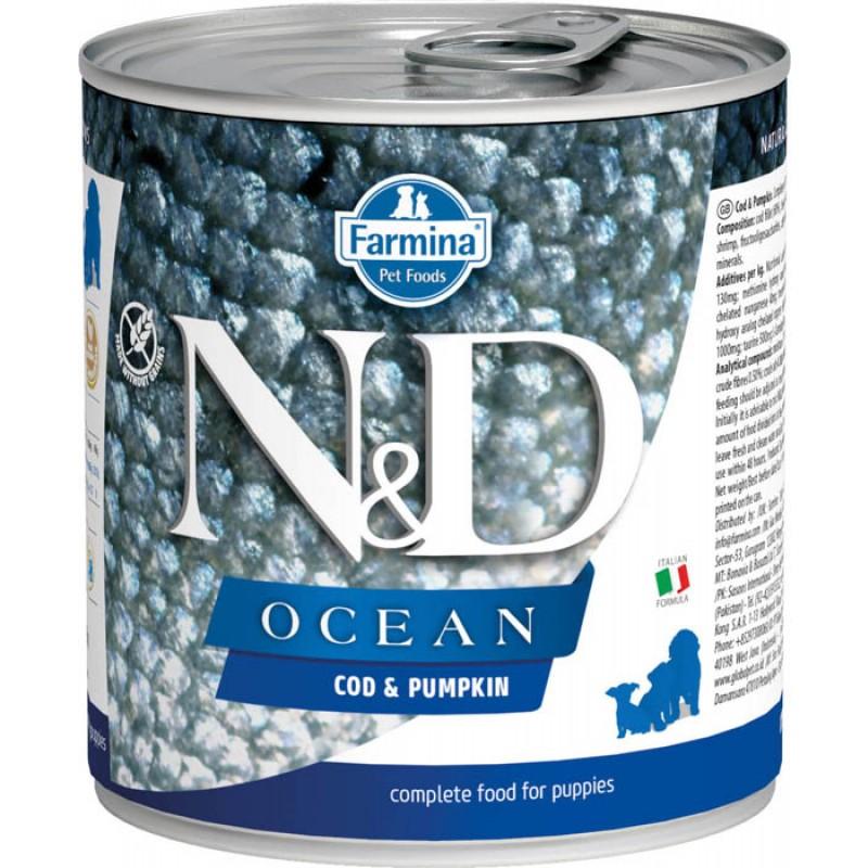 Влажный корм для щенков Farmina N & D Ocean Cod & Pumpkin Puppy с треской и тыквой 0,285 кг