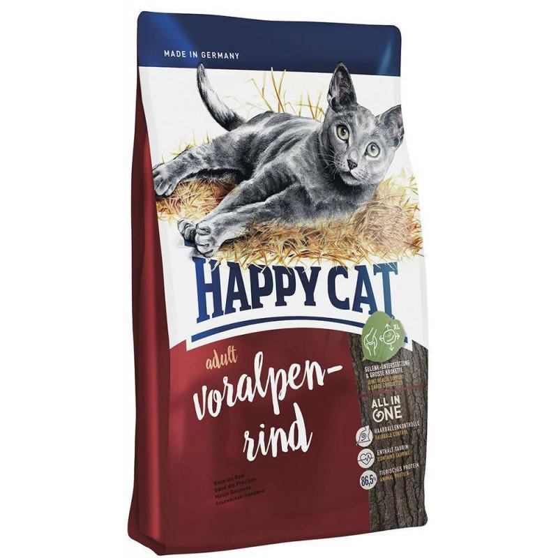 Сухой корм для кошек Happy Cat Adult Voralpen-Rind 10 кг