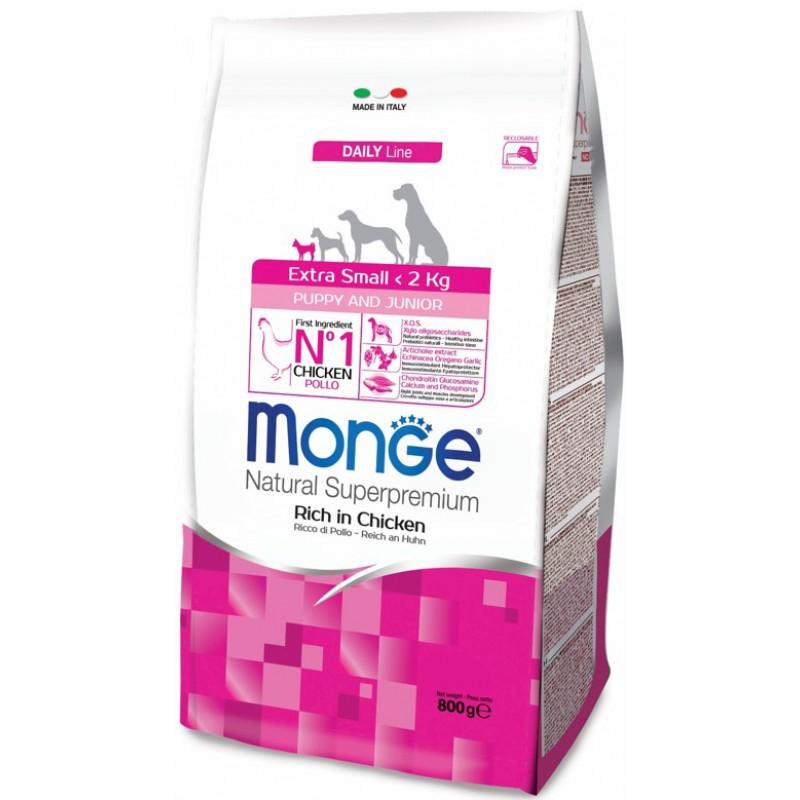 Сухой корм для щенков Monge Extra Small Puppy&Junior 0,8 кг