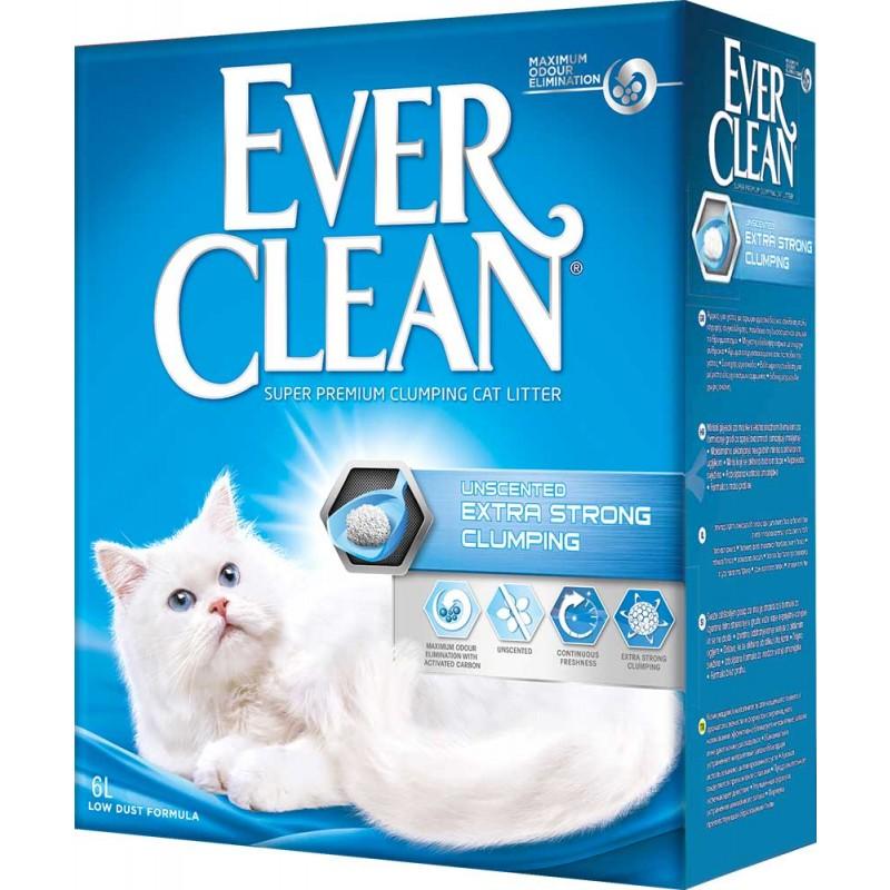 Наполнитель Ever Clean Extra Strong Clumping Unscented комкующийся бентонит без запаха 6кг 6 л
