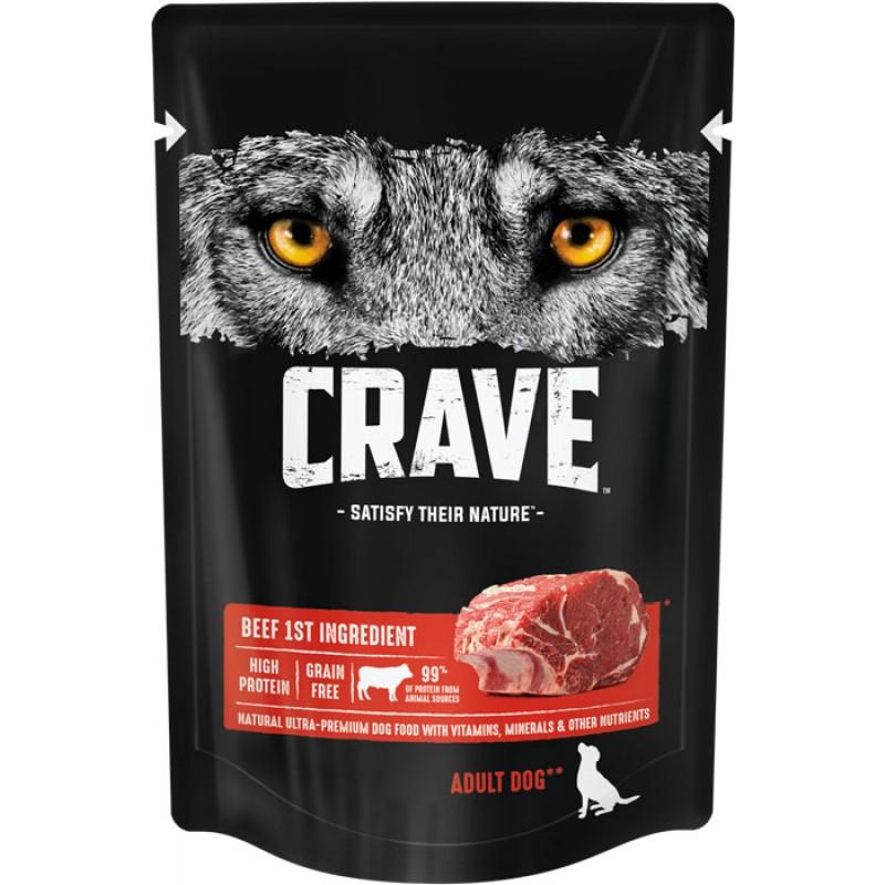 Влажный корм для собак Crave Adult с говядиной 0,085 кг