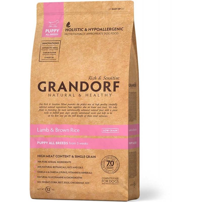 Сухой корм для щенков Grandorf Puppy Lamb&Rice 12 кг