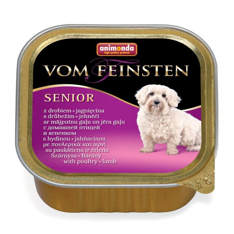 Влажный корм для собак Animonda Vom Feinsten Senior с мясом домашней птицы и ягненком 0,15 кг