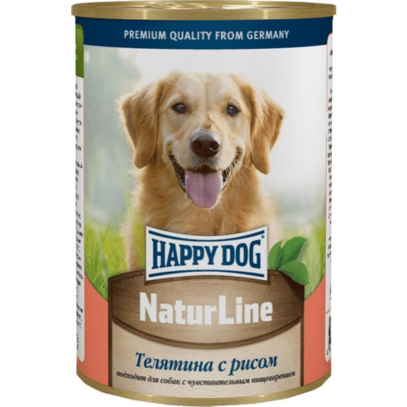 Влажный корм для собак Happy Dog телятина с рисом 0,4 кг