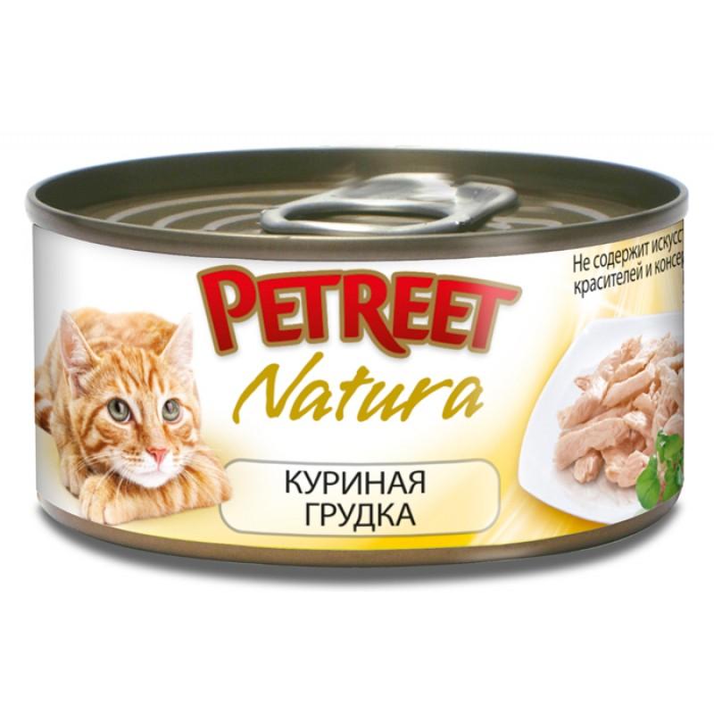 Влажный корм для кошек Petreet Куриная грудка 0,07 кг