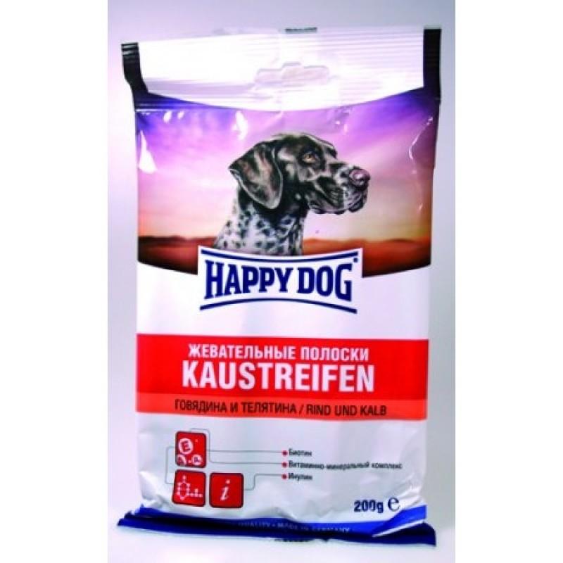 Лакомство для собак Happy Dog Kaustreifen с говядиной и телятиной 0,2 кг
