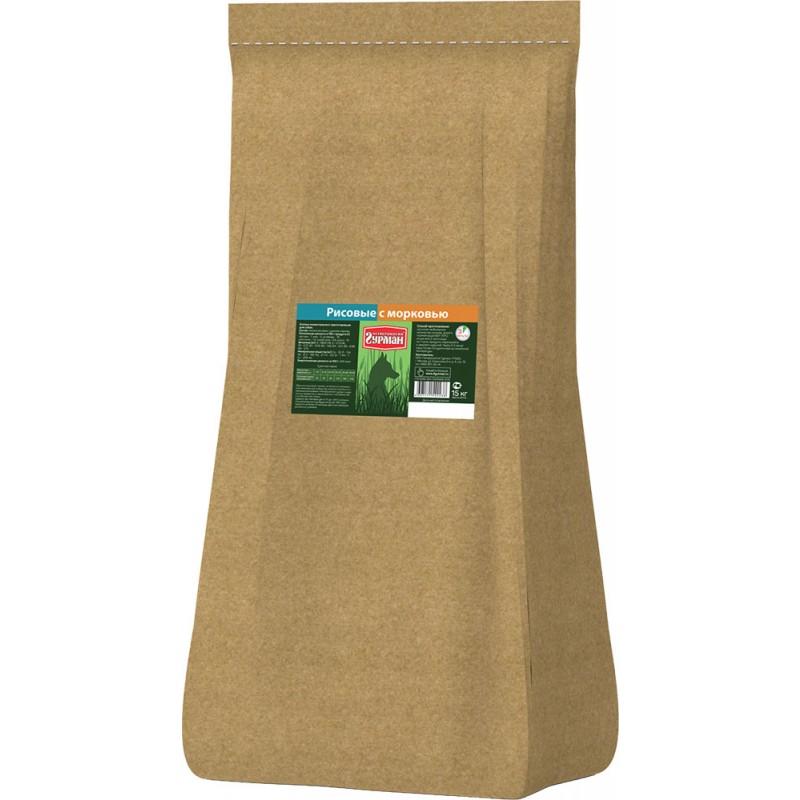 Каша для собак Четвероногий Гурман рисовая с морковью 15 кг