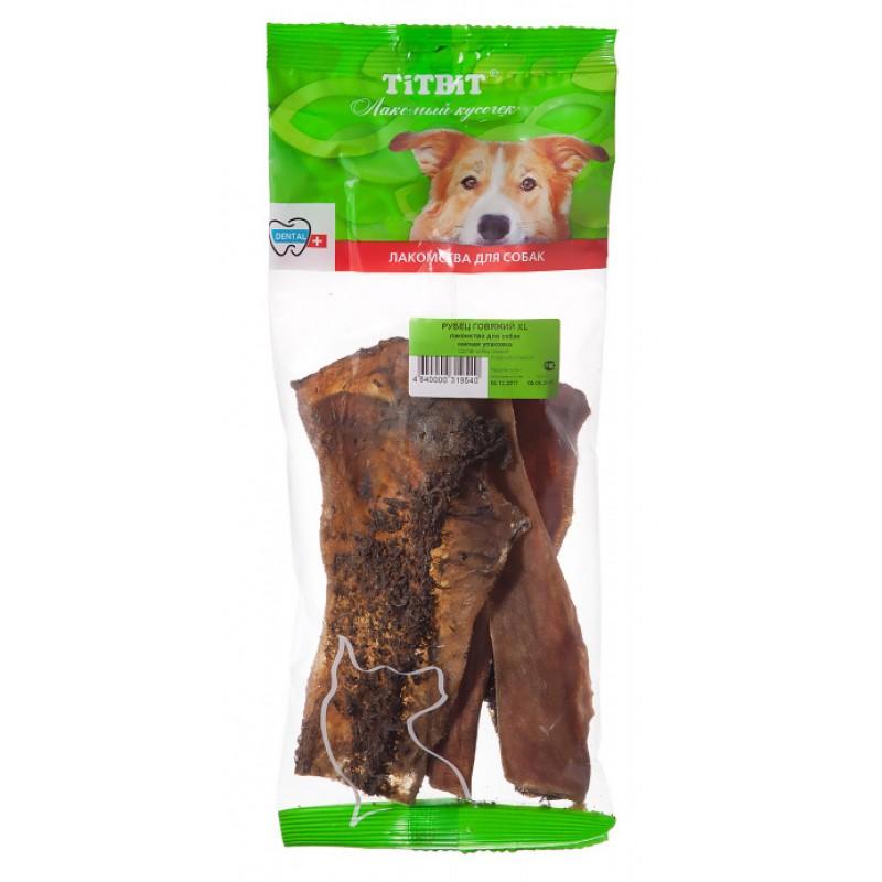 Лакомство для собак Titbit Рубец говяжий XL - мягкая упаковка 0,066 кг