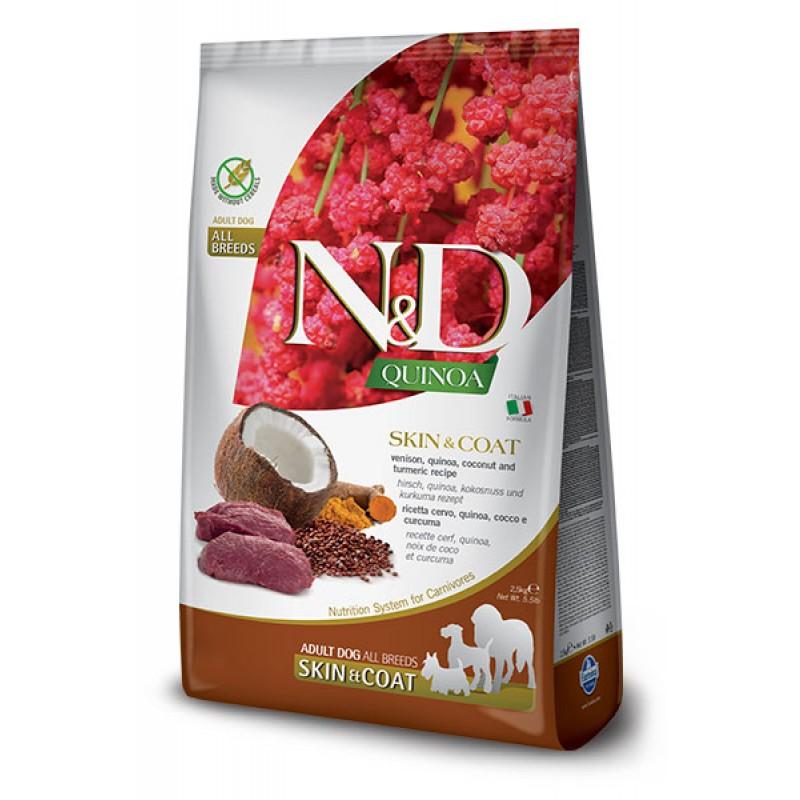 Сухой корм для собак Farmina N&D Quinoa Skin & Coat беззерновой с олениной и киноа 7 кг