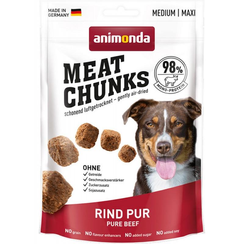 Лакомство для собак Animonda Meat Chunks для средних и крупных пород с говядиной 0,08 кг