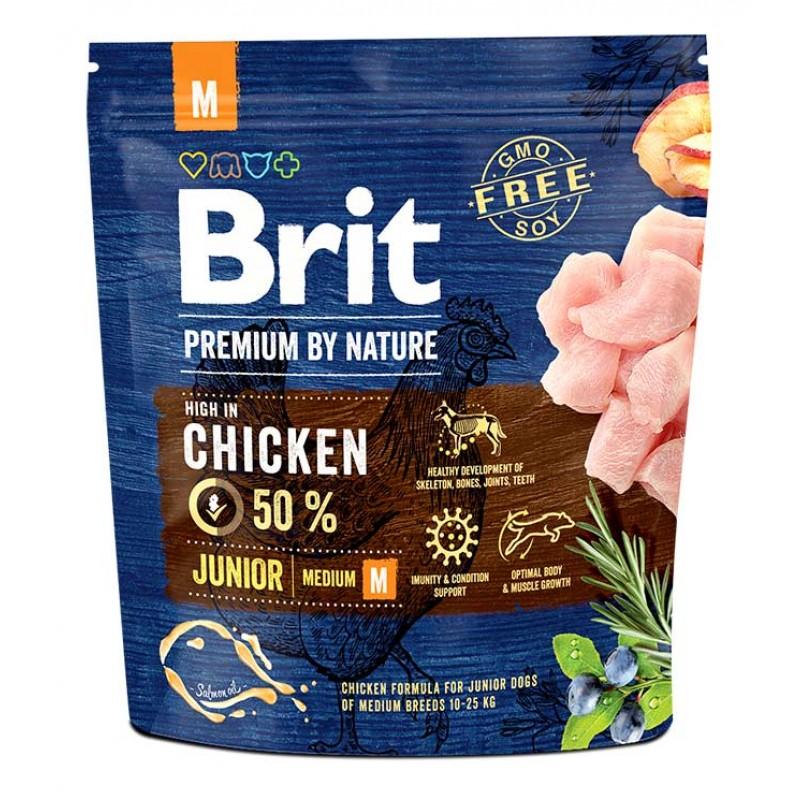Сухой корм для собак Brit Premium by Nature Junior M 1 кг