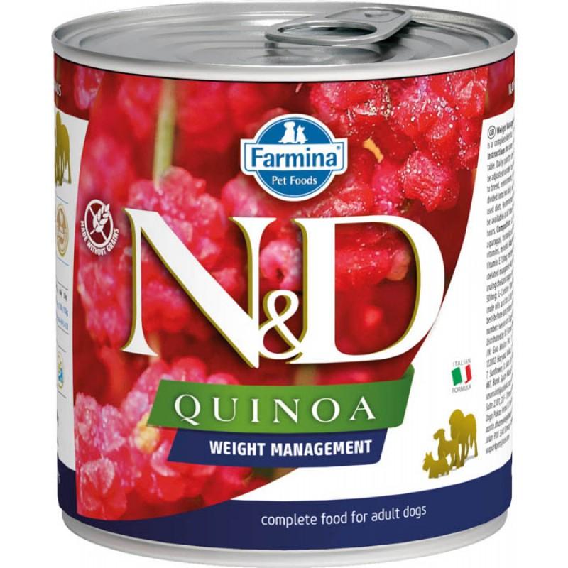 Влажный корм для собак Farmina N & D Quinoa Weight Management с киноа для контроля веса 0,285 кг