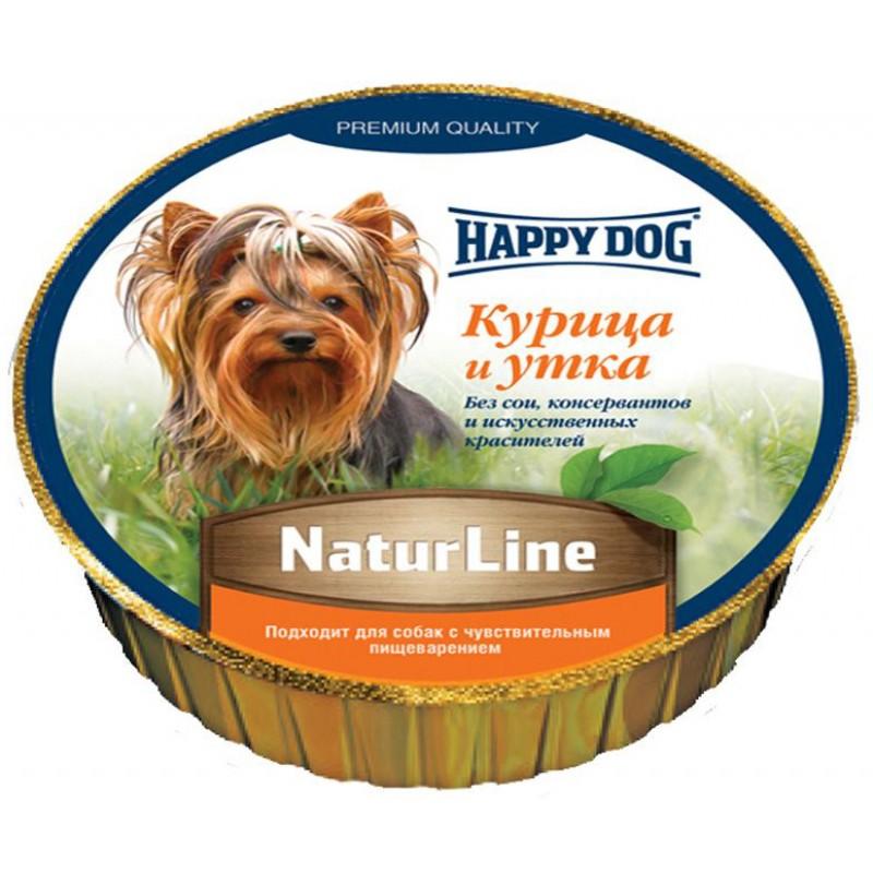 Влажный корм для собак Happy Dog Natur Line Паштет Курица Утка 0,085 кг