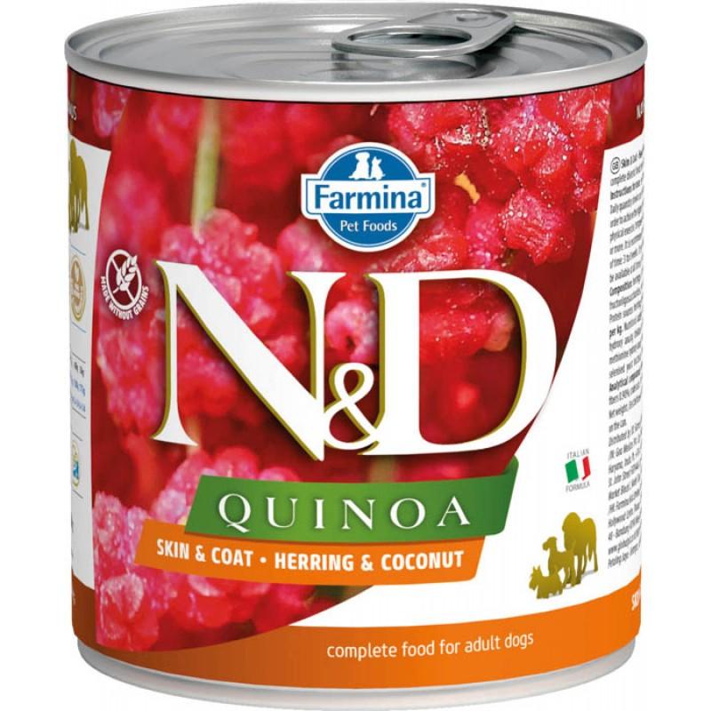 Влажный корм для собак Farmina N & D Quinoa Herring & Coconut с сельдью, киноа и кокосом 0,285 кг