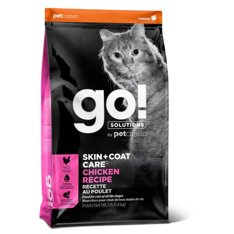 Сухой корм для кошек Go! Skin + Coat Chicken Recipe for с курицей, фруктами и овощами 7,26 кг