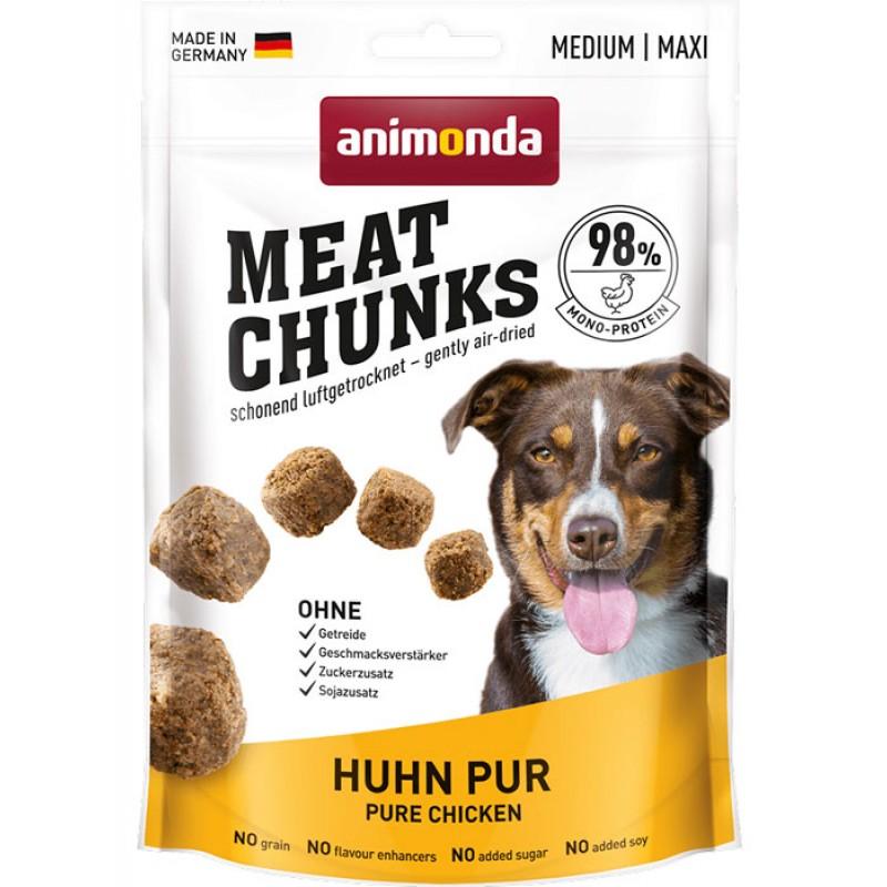 Лакомство для собак Animonda Meat Chunks для средних и крупных пород с курицей 0,08 кг