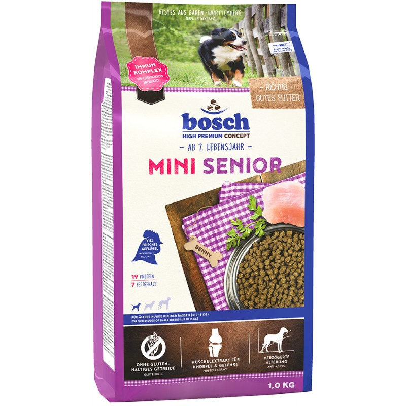 Сухой корм для собак Bosch Mini Senior 2,5 кг