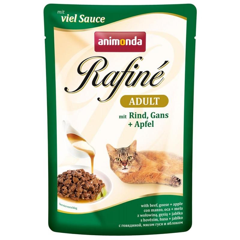 Влажный корм для кошек Animonda Rafine Soupe Adult пауч коктейль из говядины мясом гуся и яблоком 0,1 кг