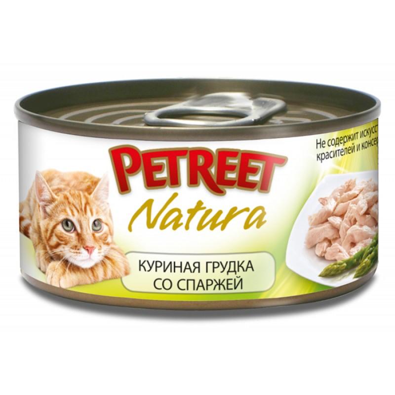 Влажный корм для кошек Petreet Куриная грудка со спаржей 0,07 кг