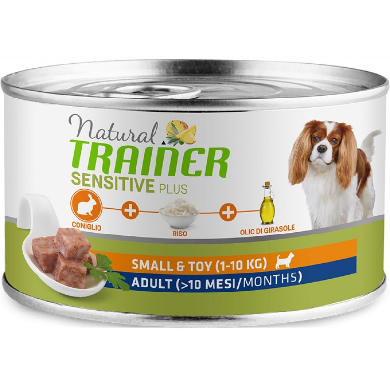Влажный корм для собак Trainer Sensitive Plus Adult Mini Rabbit and Rice 0,15 кг