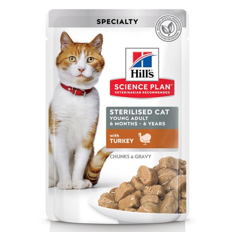 Влажный корм для кошек Hills Science Plan Feline Sterilised Young Adult with Turkey Pouch 0,085 кг