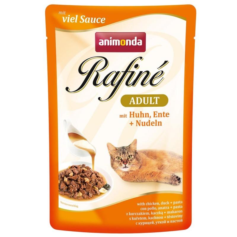 Влажный корм для кошек Animonda Rafine Soupe Adult пауч коктейль из курицы утки и пасты 0,1 кг