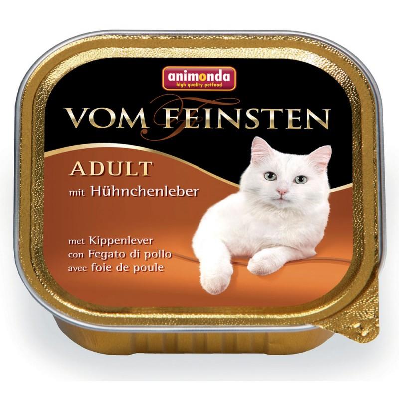 Влажный корм для кошек Animonda Vom Feinsten Adult с куриной печенью 0,1 кг