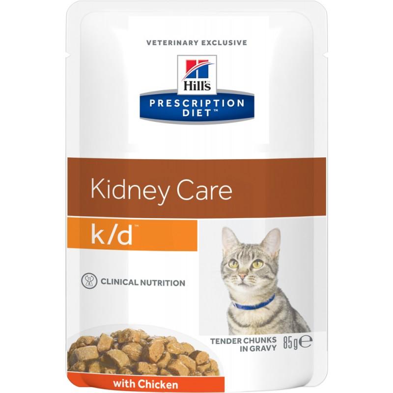 Влажный корм Hills Prescription Diet k/d Feline with Chicken Pouch диета для кошек 0,085 кг